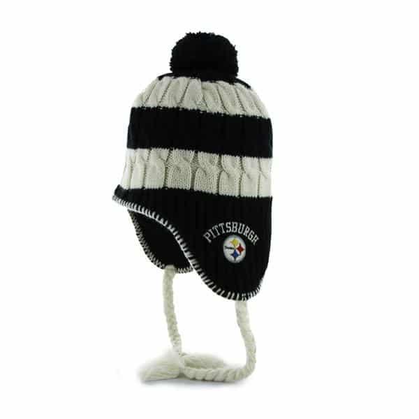 Pittsburgh Steelers Women's 47 Brand Black Sherpette Knit Hat