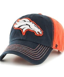 Denver Broncos Slot Back Clean Up Orange 47 Brand Adjustable Hat