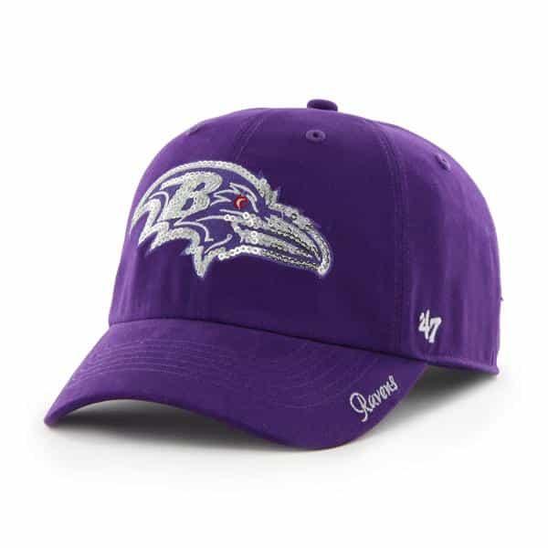 Baltimore Ravens Women's 47 Brand Sparkle Purple Clean Up Adjustable Hat