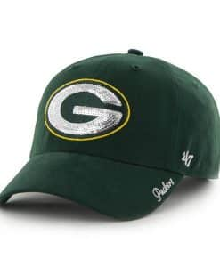 Green Bay Packers Sparkle Team Color Clean Up Dark Green 47 Brand Womens Hat