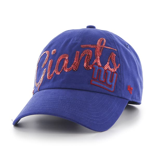 New York Giants Sparkle Script Clean Up Royal 47 Brand Womens Hat