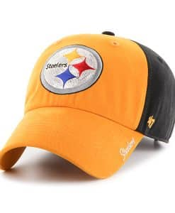 Pittsburgh Steelers Sparkle Two Tone Clean Up Black 47 Brand Womens Hat