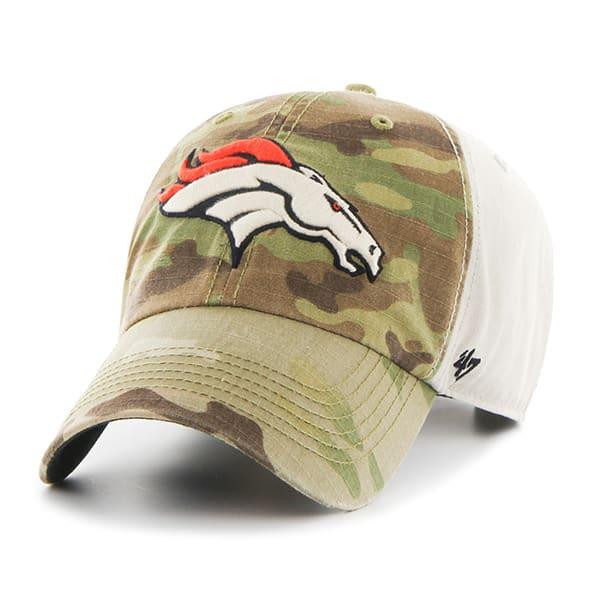 Denver Broncos Camo Multicam Clean Up 47 Brand Adjustable Hat