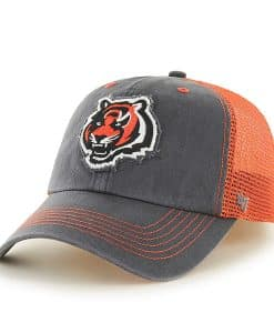 Cincinnati Bengals Taylor Closer Charcoal 47 Brand Stretch Fit Hat