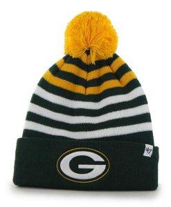 Green Bay Packers Yipes Cuff Knit Dark Green 47 Brand KID Hat
