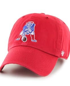 New England Patriots 47 Brand Red Classic Clean Up Adjustable Hat