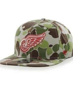 Detroit Red Wings Bufflehead Bone 47 Brand Adjustable Hat