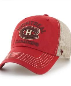 Montreal Canadiens Big Sur Clean Up Red Rock 47 Brand Adjustable Hat