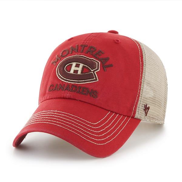 Montreal Canadiens Big Sur Clean Up Red Rock 47 Brand Adjustable Hat