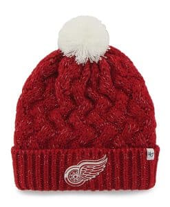 Detroit Red Wings Women's Red Fiona Cuff Knit Hat