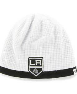 Los Angeles Kings Grid Fleece Beanie White 47 Brand YOUTH Hat