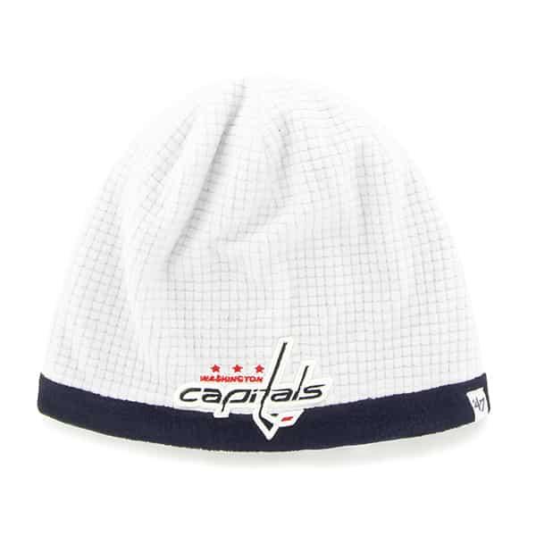 Washington Capitals Grid Fleece Beanie White 47 Brand YOUTH Hat