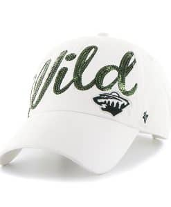 Minnesota Wild Women's 47 Brand Sparkle White Clean Up Adjustable Hat