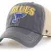 St. Louis Blues 47 Brand Vintage Navy Tuscaloosa Clean Up Mesh Snapback Hat