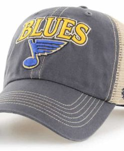 St. Louis Blues 47 Brand Vintage Navy Tuscaloosa Clean Up Mesh Snapback Hat
