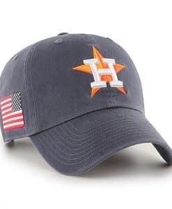 Houston Astros 47 Brand Vintage Navy USA Flag Clean Up Adjustable Hat