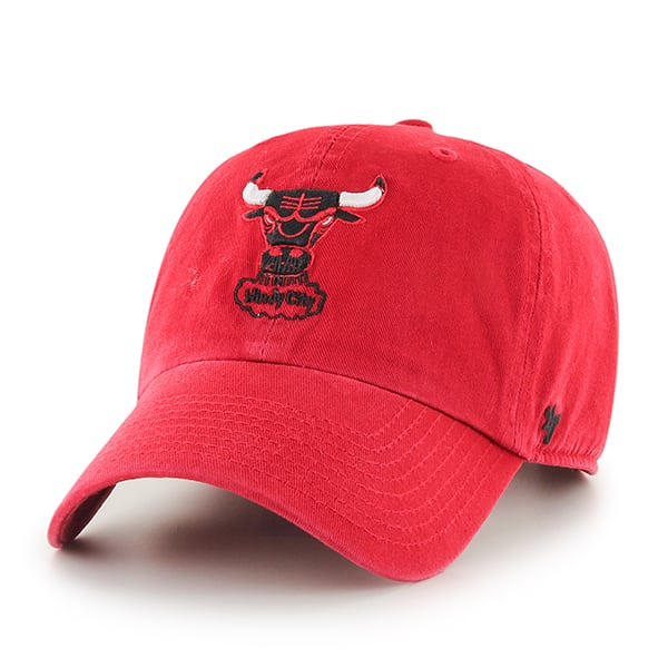 Chicago Bulls Clean Up Red 47 Brand Adjustable Hat