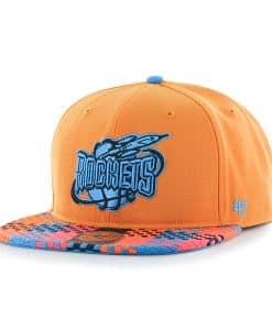 Houston Rockets Ruffian Captain Vibrant Orange 47 Brand Adjustable Hat