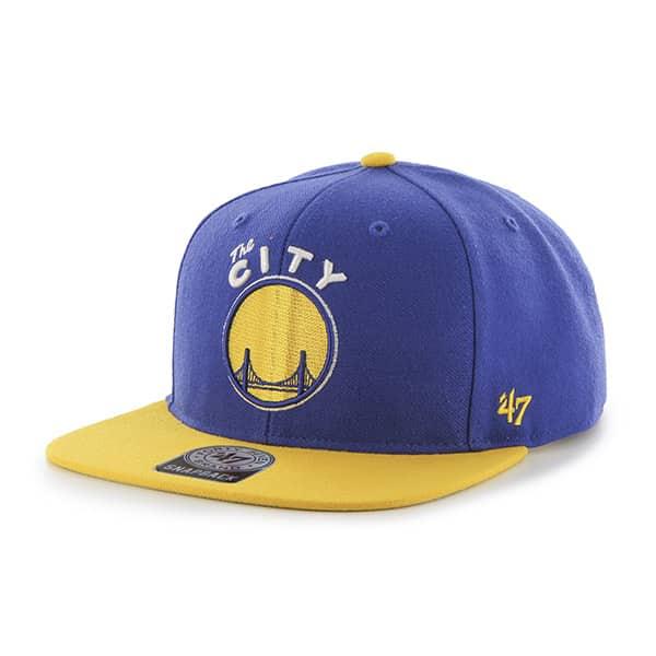 Golden State Warriors Sure Shot Two Tone Captain Royal 47 Brand Adjustable Hat