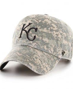 Kansas City Royals 47 Brand Digital Camo Clean Up Adjustable Hat