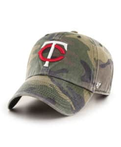 Minnesota Twins 47 Brand Camo Cargo Clean Up Adjustable Hat
