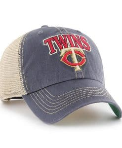 Minnesota Twins 47 Brand Vintage Navy Tuscaloosa Clean Up Adjustable Hat