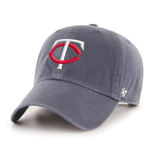 Minnesota Twins 47 Brand Vintage Navy USA Flag Clean Up Adjustable Hat