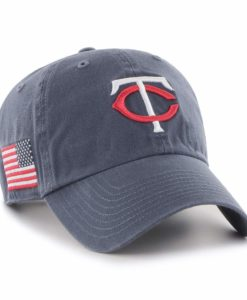 Minnesota Twins 47 Brand Vintage Navy USA Flag Clean Up Hat