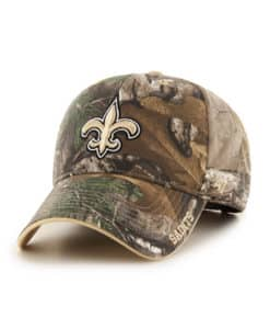 New Orleans Saints 47 Brand Realtree Camo Frost MVP Adjustable Hat