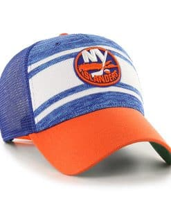 New York Islanders 47 Brand Blue MVP Power Play Adjustable Hat