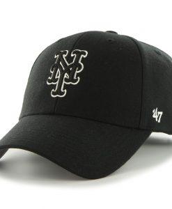 New York Mets 47 Brand Black MVP Adjustable Hat