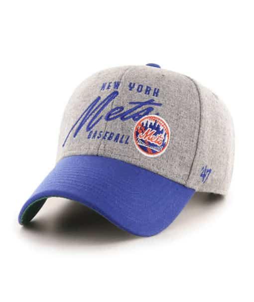 New York Mets 47 Brand Cooperstown Gray Heather MVP Adjustable Hat