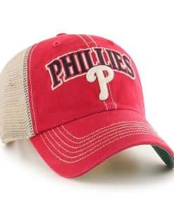 Philadelphia Phillies 47 Brand Vintage Red Tuscaloosa Mesh Adjustable Hat