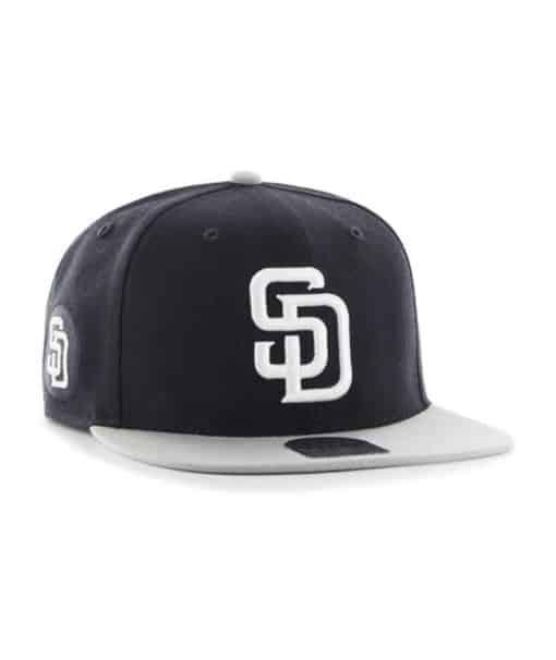 San Diego Padres 47 Brand Navy Gray Sure Shot Snapback Adjustable Hat