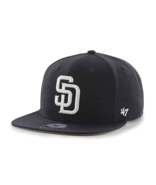 San Diego Padres 47 Brand Navy Sure Shot Snapback Adjustable Hat