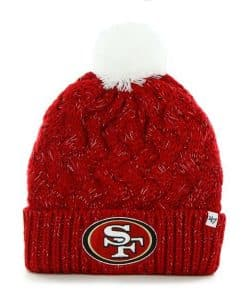 San Francisco 49ers INFANT / TODDLER 47 Brand Red Fiona Cuff Knit Hat