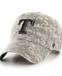 Texas Rangers 47 Brand Digital Camo Clean Up Adjustable Hat