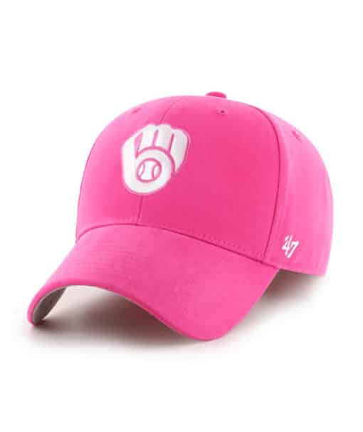 Milwaukee Brewers YOUTH 47 Brand Pink Adjustable Hat