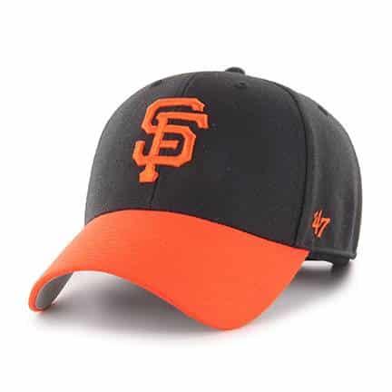 San Francisco Giants 47 Brand Black Orange MVP Adjustable Hat