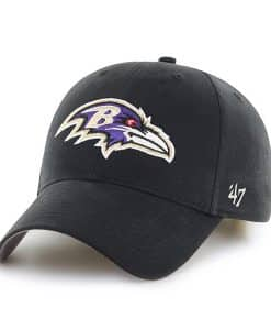 Baltimore Ravens INFANT Baby 47 Brand Black MVP Stretch Fit Hat