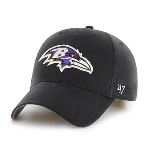 Baltimore Ravens INFANT Baby 47 Brand Black MVP Stretch Fit Hat
