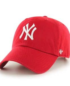 New York Yankees 47 Brand Red Clean Up Adjustable Hat