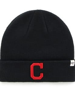 Cleveland Indians 47 Brand Navy Raised Cuff Knit Hat