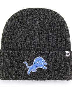 Detroit Lions 47 Brand Black Brain Freeze Cuff Knit Hat