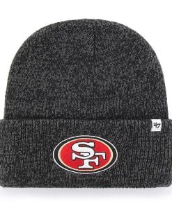 San Francisco 49ers 47 Brand Black Brain Freeze Cuff Knit Hat