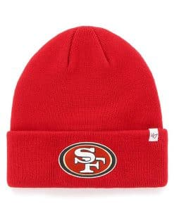 San Francisco 49ers 47 Brand Red Raised Cuff Knit Hat