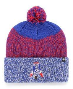 New England Patriots 47 Brand Royal Blue Classic Static Cuff Knit Hat