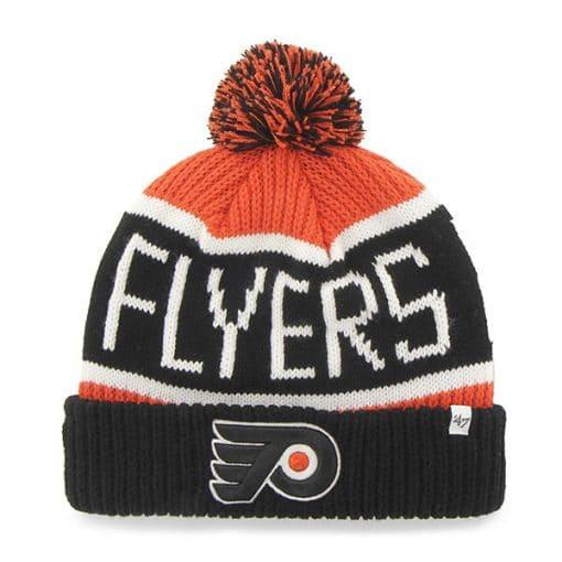 Philadelphia Flyers 47 Brand Orange Black Calgary Cuff Knit Hat