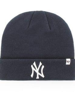 New York Yankees Raised Cuff Knit Navy 47 Brand Hat