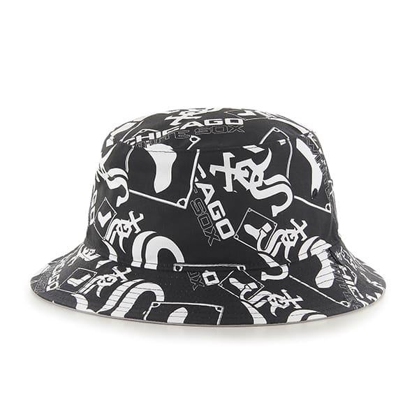 Chicago White Sox 47 Brand Black Bravado Bucket Hat